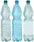 Plastic bottle with water Royalty Free Stock Images