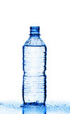 Plastic bottle of water isolated on white Stock Photos