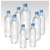 Plastic bottles royalty free illustration