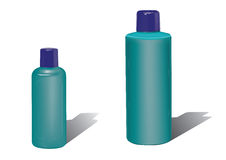 Plastic bottles. 2 plastic bottles you can add your own label Stock Photos