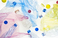 Plastic bottles and bags Stock Image