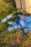 Plastic Waste In The Nature. royalty free stock photos