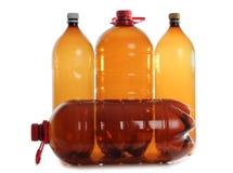 Plastic bottles beer Stock Photo