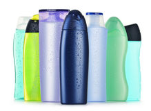 Plastic bottles of body care and beauty products Royalty Free Stock Photography