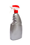 Plastic bottles of cleaning products Royalty Free Stock Image