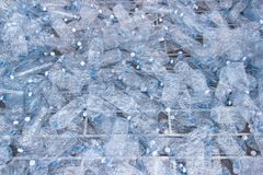 Plastic bottles, Concept of recycling. The Empty used plastic bottle Royalty Free Stock Image