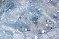 Plastic bottles, Concept of recycling. The Empty used plastic bottle Stock Images