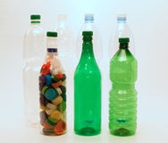 Plastic bottles and caps for recycling Stock Photography