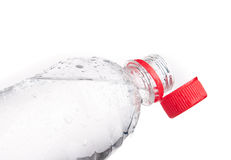 Plastic bottles of drinking water isolated Stock Photos