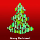 Plastic bottles forming a christmas tree Royalty Free Stock Photos