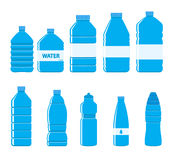 Plastic Bottles Icon Set on White Background Royalty Free Stock Photos