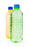 Plastic bottles isolated  Royalty Free Stock Photography
