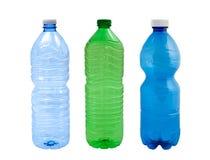 Plastic bottles. Isolated on white background stock photography