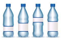 Plastic bottles with labels Stock Image