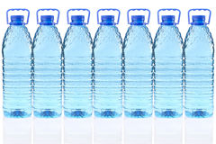 Plastic bottles of mineral water Royalty Free Stock Images