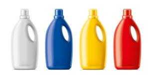 Plastic Bottles mockup. stock photo