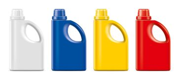 Plastic Bottles mockup. royalty free stock photo