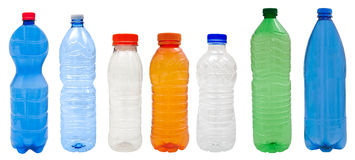 Plastic bottles royalty free stock photo