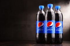 Free Plastic Bottles Of Carbonated Soft Drink Pepsi Royalty Free Stock Photos - 111292038