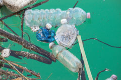 Plastic bottles that pollute Stock Photography