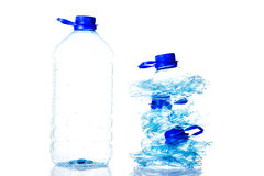 Plastic bottles prepared for recycling. Royalty Free Stock Photos