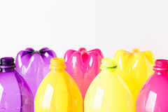 Plastic bottles for the recycle stock image