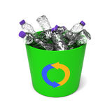Plastic bottles in a recycle bin Royalty Free Stock Photography