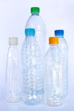 Plastic bottles for recycle process Royalty Free Stock Images