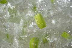 Plastic bottles for recycling. Concept Stock Photos