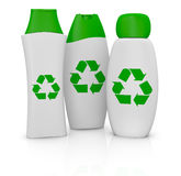 Plastic bottles with recycling symbol Stock Photography