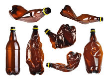 Plastic bottles set Stock Images