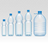 Plastic bottles set Stock Photos