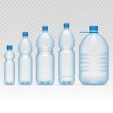 Plastic bottles set Stock Photos