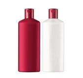 Plastic bottles shampoo isolated on white Royalty Free Stock Photos
