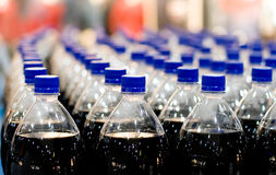 Plastic bottles in shop Royalty Free Stock Photo