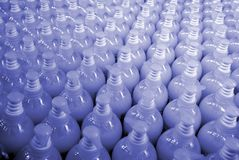 Plastic bottles - texture Stock Photography