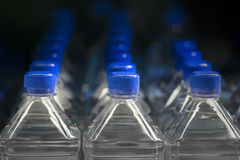 Plastic bottles of water Royalty Free Stock Photos