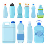 Plastic bottles for water of different types and sizes. Set of bottle transparent. Vector illustration vector illustration