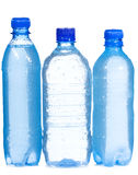 Plastic bottles with water drops Royalty Free Stock Image