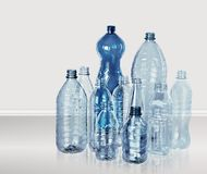 Plastic bottles of water on white. Water plastic bottles white objects nobody isolated Stock Photography