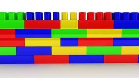 Plastic bouw op witte achtergrond Stock Afbeeldingen