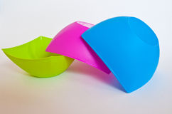 Plastic bowl. Colorful plastic bowl on  white background Royalty Free Stock Photo