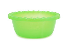 Plastic Bowl, isolated Stock Images