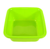 Plastic bowl Isolated on white Royalty Free Stock Photo