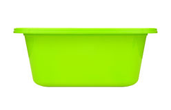 Plastic bowl Isolated on white Royalty Free Stock Photography