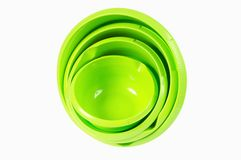 Plastic bowl set Stock Images