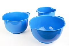 Plastic bowls Stock Photos