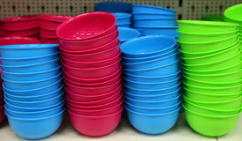 Plastic bowls Royalty Free Stock Photography