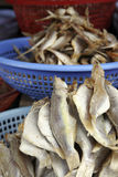 Plastic bowls of dried fish Royalty Free Stock Image