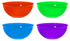 Plastic bowls Stock Photo